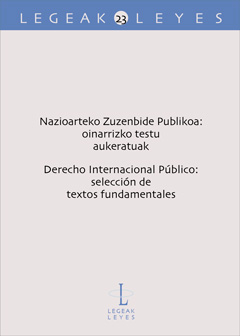 Nazioarteko Zuzenbide Publikoa – Derecho Internacional Público