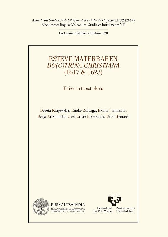 51.1/2. Esteve Materraren Do(c)trina Christiana (1617 & 1623).